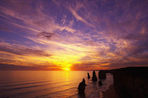Sunset, Twelve Apostles, Port Campbell National Park by Danita Delimont