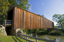 A covered bridge at the Burfordville Grist Mill in Burfordville, Missouri. by Danita Delimont