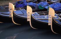 Italy, Veneto, Venice. Row of Gondolas. von Danita Delimont