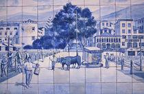 Portugal, Madeira-Funchal. Historic Azulejos Tiles. von Danita Delimont
