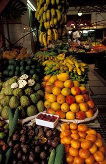Portugal, Madeira. Produce market, Mercado dos Lavradores.  Funchal by Danita Delimont