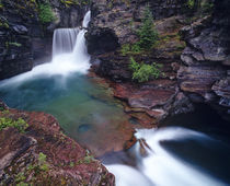 St Mary Falls in Glacier National Park in Montana by Danita Delimont