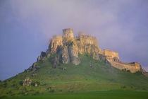Spissky hrad in mist, Slovakia by Danita Delimont