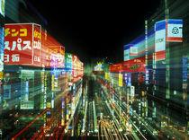 Japan, Tokyo, Shinjuku Neon by Danita Delimont