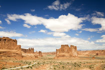 Utah, Arches NP, Courthouse Towers and The Organ by Danita Delimont