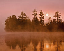 USA, New York, Adirondack Park. Sunrise on a lake. Credit as by Danita Delimont