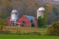 USA, Vermont, Arlington, Farm Landscape in fall color by Danita Delimont
