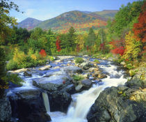 USA, New York. A waterfall in the Adirondack Mountains. Credit as by Danita Delimont