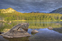 Minneopa Lake catches dramatic morning light in the Pioneer Mountains, Montana von Danita Delimont