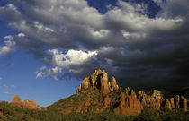 North America, United States, Arizona, Sedona. Red rocks with clouds. by Danita Delimont