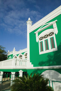 ABC Islands - ARUBA - Oranjestad: Colorful Aruban Government Building von Danita Delimont