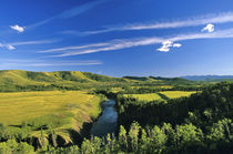 Canada, Alberta, The Highwood River Along the Rocky Mountain Front. by Danita Delimont