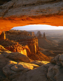 USA, Utah, Canyonlands NP, Mesa Arch on a winter sunrise von Danita Delimont