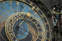 Astronomical Clock on tower of Old Town Hall, Prague, Czech Republic by Danita Delimont