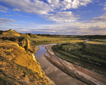 Little Missouri River in Theodore Roosevelt National Park in North Dakota by Danita Delimont