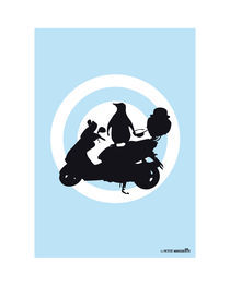 Scooter Penguin von Rebecca Strahan