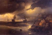 Peter d.Gr. zuendet Feuer an / Aiwasowski by AKG  Images