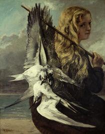 Courbet, Maedchen mit Moewen/ 1865 von AKG  Images