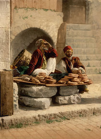 Brotverkaeufer in Jerusalem / Photochrom by AKG  Images