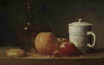 J.B.S.Chardin, Fruechtestilleben u.Becher von AKG  Images