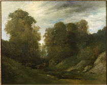G.Courbet, Hirsche am Flussufer by AKG  Images