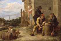 D.Teniers, Rauchende Bauern by AKG  Images