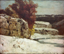G.Courbet, Winterlandschaft bei Ornans by AKG  Images