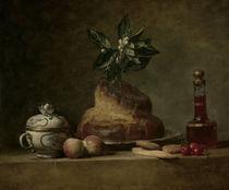 J.B.S.Chardin, Stilleben mit Brioche von AKG  Images