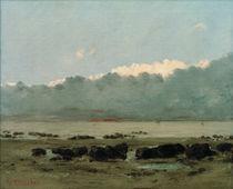 G.Courbet, Schwarze Felsen bei Trouville by AKG  Images