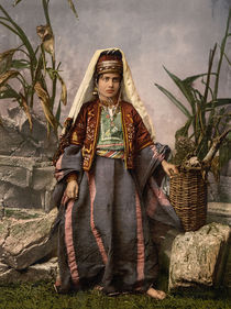 Junge Frau aus Bethlehem / Photochrom von AKG  Images