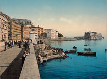 Neapel, Castel dell'Ovo / Photochrom by AKG  Images