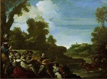 Guercino, Landschaft mit Musizierenden von AKG  Images