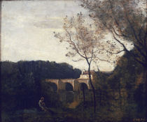 C.Corot, Die alte Bruecke zu Mantes/1850 by AKG  Images