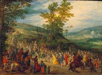 J.Brueghel d.Ae., Weg zu Kalvarienberg by AKG  Images