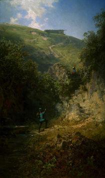 C.Spitzweg, Der Urlauber by AKG  Images