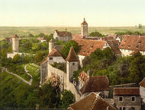 Rothenburg o.d.T., Stadtmauer/Photochrom by AKG  Images