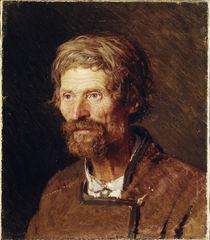 I.N.Kramskoi, Kopf eines Bauern von AKG  Images
