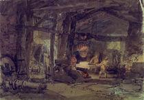 W.Turner, Das Innere einer Eisengiesserei von AKG  Images