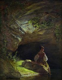 C.Spitzweg, Maedchen vor der Grotte von AKG  Images