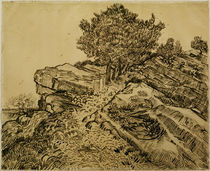 V.v.Gogh, Der Felsen von Montmajour by AKG  Images