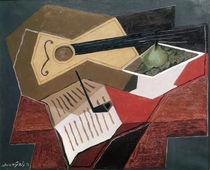 J.Gris, Gitarre und Obstschale, 1926 von AKG  Images