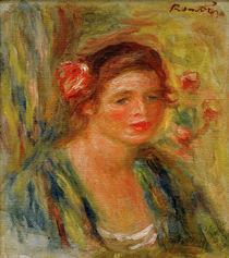 Auguste Renoir / Tete de jeune femme von AKG  Images