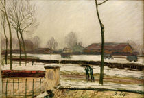 A.Sisley, Winterlandschaft by AKG  Images