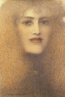 F.Khnopff, Die roten Lippen by AKG  Images