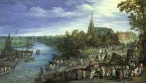 J.Brueghel d.Ae., Dorfmarkt in Schelle von AKG  Images