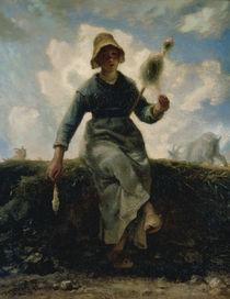 J.F.Millet, Die Spinnerin by AKG  Images