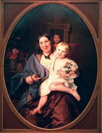 F.G.Waldmueller, Unbekannte Dame mit Kind by AKG  Images