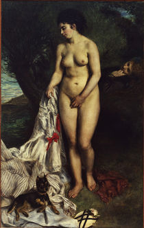 A.Renoir, Badende mit einem Pinscher by AKG  Images