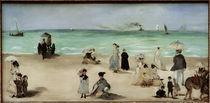 E.Manet, Am Strand von Boulogne sur Mer by AKG  Images