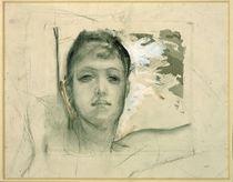 Max Klinger, Frauenkopf/ Studie/ um 1893 von AKG  Images